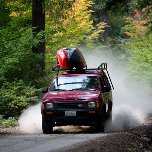 Driving to the put-in near Leavenworth, Washington- Eric Mickelson Photo.
