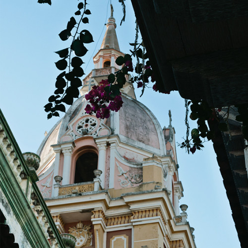 One of Cartagena's many church spires.