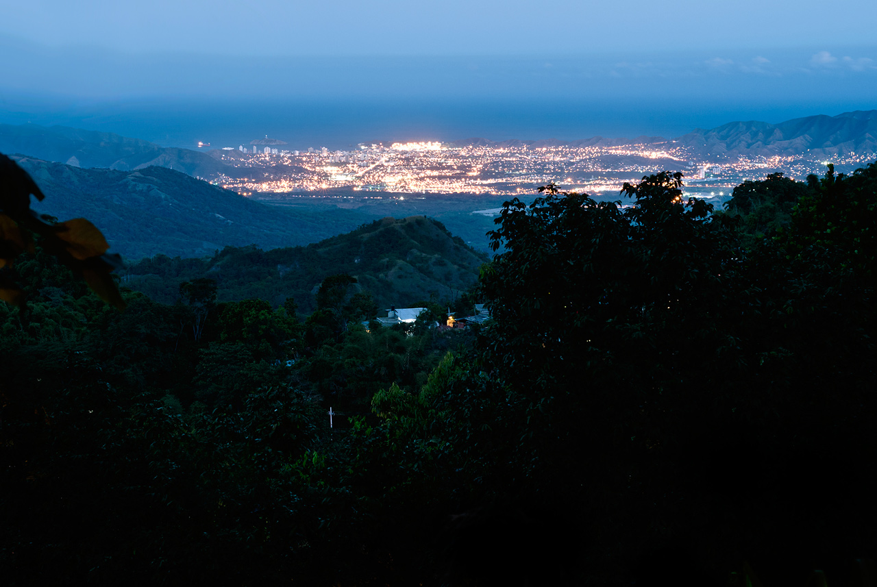 The lights of Santa Marta, Colombia.
