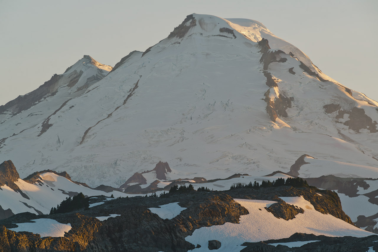 Mt Baker, just before sunset.