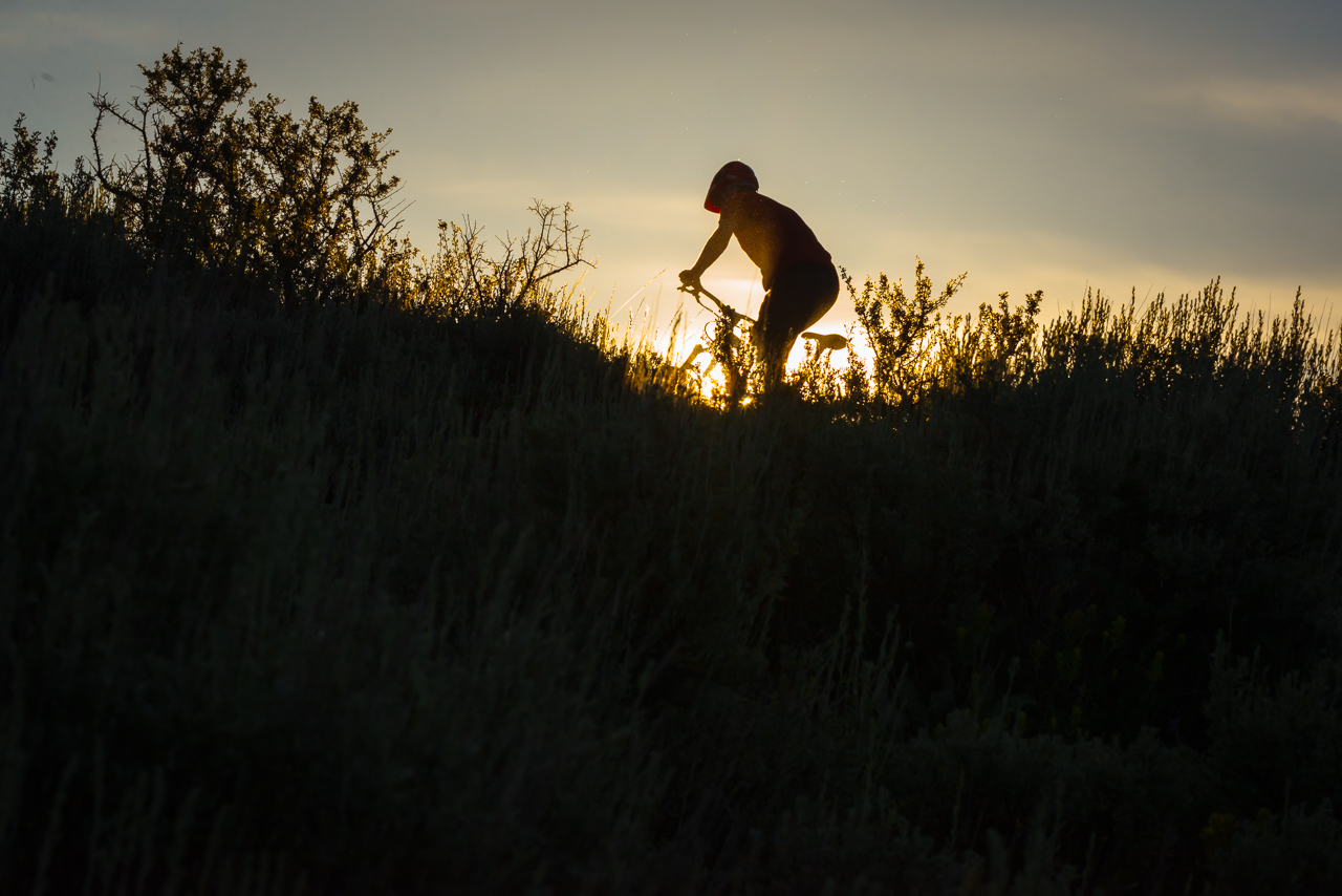 I loved the backlighting on the sagebrush.  I really wished I'd had someone else here to do the riding, because there were some great photo opportunities that were tough to catch alone with the rapidly rising sun.
